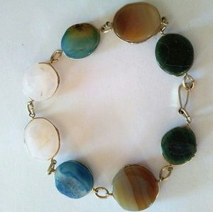 Jewelry - Bracelet w/ polished Stones 8""